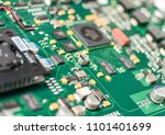 pcb printed circuit board close ... | Shutterstock . vector #1101401699