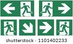 emergency exit sign set  ... | Shutterstock .eps vector #1101402233