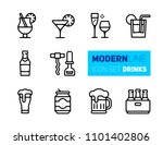outline icons set of beverages... | Shutterstock .eps vector #1101402806