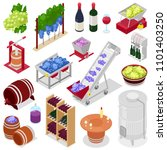 winery vector wine alcohol in... | Shutterstock .eps vector #1101403250
