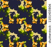 abstract blue  orange  green ... | Shutterstock .eps vector #1101405806