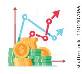 pay rise business vector... | Shutterstock .eps vector #1101407066