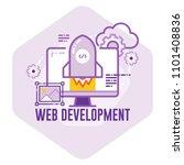 web development concept vector... | Shutterstock .eps vector #1101408836