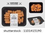 sausage packaging on the... | Shutterstock .eps vector #1101415190