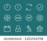 set button line icon stock...   Shutterstock .eps vector #1101416708