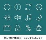 set music line icon stock...   Shutterstock .eps vector #1101416714