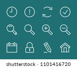 set search line icon stock...   Shutterstock .eps vector #1101416720