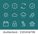 set weather sun cloud line icon ...   Shutterstock .eps vector #1101416738