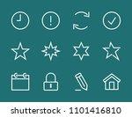 set star line icon stock vector ...