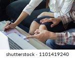 boss is harassing business... | Shutterstock . vector #1101419240