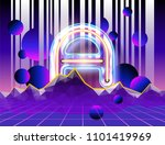 cyber landscape poster with... | Shutterstock .eps vector #1101419969