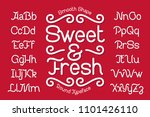 smooth rounded typeface named ... | Shutterstock .eps vector #1101426110