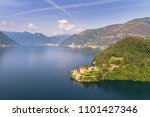villa of balbianello  lake of... | Shutterstock . vector #1101427346