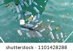 plastic bottle in the ocean sea ... | Shutterstock . vector #1101428288
