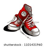 sneakers illustration for t... | Shutterstock .eps vector #1101431960