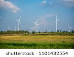 wind turbine farm and... | Shutterstock . vector #1101432554