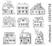set of vector graphic simple... | Shutterstock .eps vector #1101433718