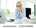 sick and overworked... | Shutterstock . vector #1101433880