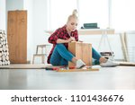 diy concept. young woman... | Shutterstock . vector #1101436676