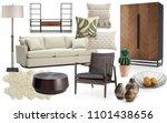 interior collage. mood board... | Shutterstock . vector #1101438656
