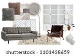 interior collage. mood board... | Shutterstock . vector #1101438659