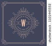 wedding invitation card design... | Shutterstock .eps vector #1101445553