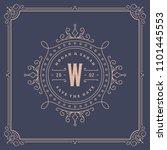 wedding invitation card design...   Shutterstock .eps vector #1101445553
