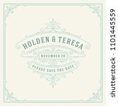 wedding invitation card design... | Shutterstock .eps vector #1101445559