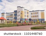 the building of a kindergarten. | Shutterstock . vector #1101448760