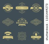 wedding labels and badges...   Shutterstock .eps vector #1101449273