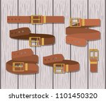 set belts masculine icons | Shutterstock .eps vector #1101450320