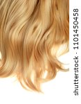 blond hair wig isolated | Shutterstock . vector #1101450458