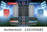 scoreboard and lower thirds... | Shutterstock .eps vector #1101450683