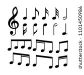 g clef and music notes set of... | Shutterstock .eps vector #1101450986