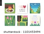 simple things   cards   flat... | Shutterstock .eps vector #1101453494