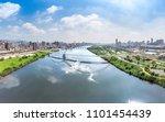 crescent bridge   landmark of... | Shutterstock . vector #1101454439