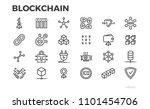 blockchain technology icons.... | Shutterstock .eps vector #1101454706