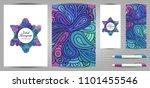 doodle style hexagram corporate ... | Shutterstock .eps vector #1101455546