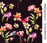floral seamless pattern ...   Shutterstock . vector #1101455666