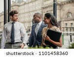 side view of three business...   Shutterstock . vector #1101458360