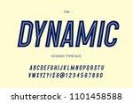 vector dynamic modern typeface... | Shutterstock .eps vector #1101458588