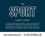 sport dynamic modern typeface... | Shutterstock .eps vector #1101458618