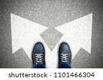 one standing at the crossroad...   Shutterstock . vector #1101466304