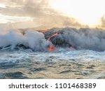 kilauea volcano in hawaii...   Shutterstock . vector #1101468389