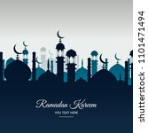 beautiful holy festival eid and ... | Shutterstock .eps vector #1101471494