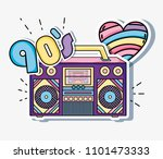 i love 90s cartoons | Shutterstock .eps vector #1101473333