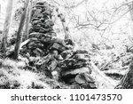 tumble down dry stone wall in... | Shutterstock . vector #1101473570