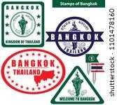 vector stamps of bangkok  the... | Shutterstock .eps vector #1101478160