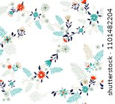 floral seamless pattern... | Shutterstock .eps vector #1101482204