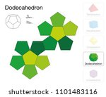 dodecahedron platonic solid... | Shutterstock .eps vector #1101483116